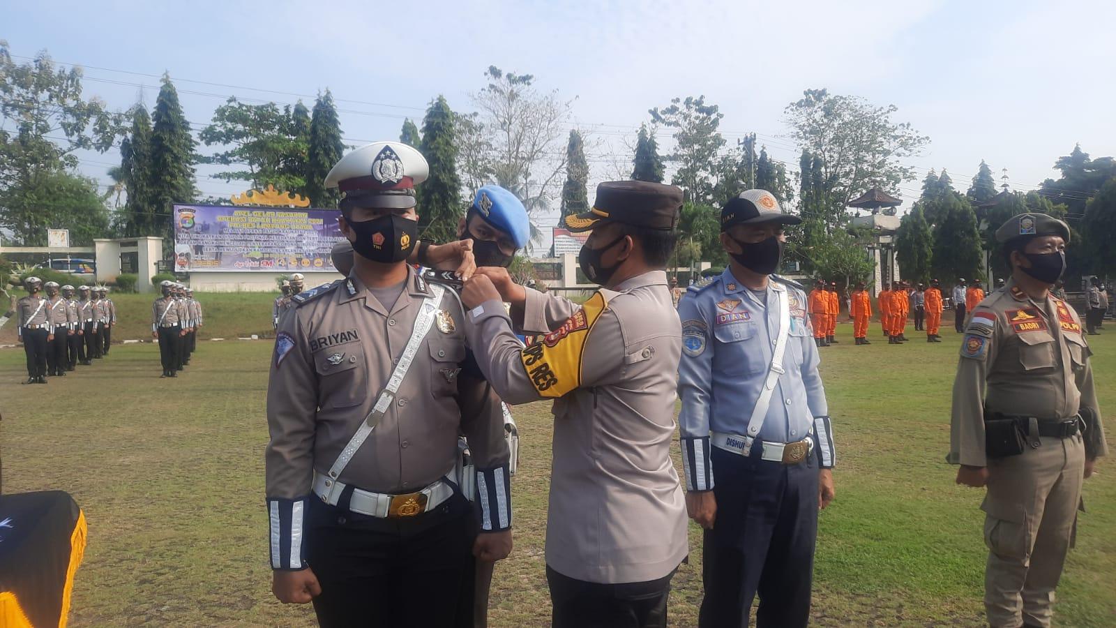 Polres Lampung Utara Laksanakan Apel Gelar Pasukan Ops Patuh Krakatau 2021