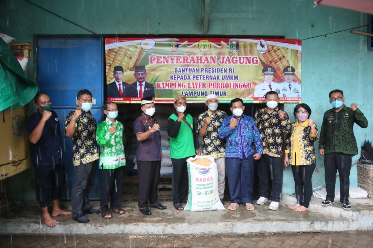 Serah Terima Jagung Bantuan Presiden RI Dihadiri Bupati