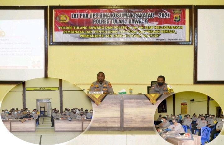 Polres Tulang Bawang Gelar Operasi Bina Kusuma Krakatau-2021, Catat Tanggal dan Sasarannya