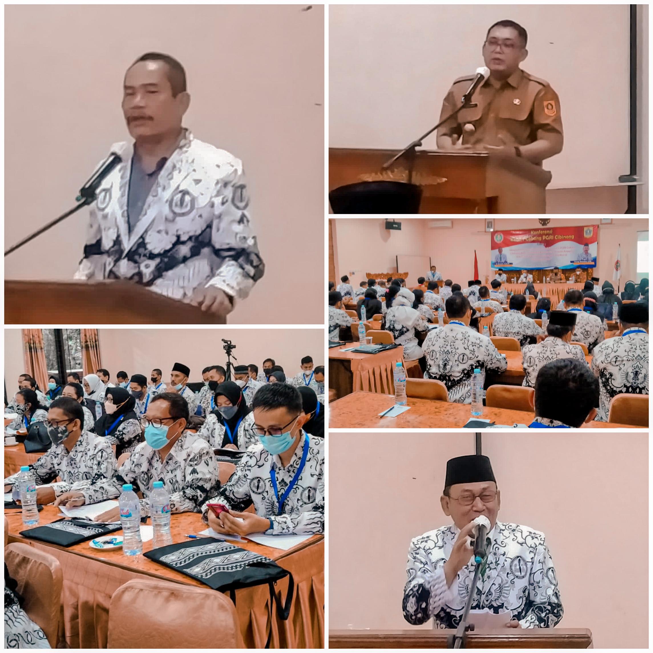 Ketua PGRI Kabupaten Bogor Buka KonKerCab 1 PGRI Cabang Cibinong